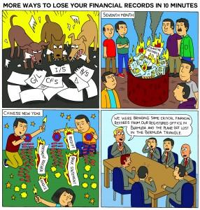 cartoon2morewaystoloseyourfinancialrecordsin10minutes